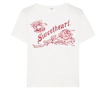 Sweetheart T-shirt Aus Baumwoll-jersey Mit Flockdruck -