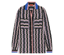 Hemd aus Strick in Häkeloptik aus einer Wollmischung