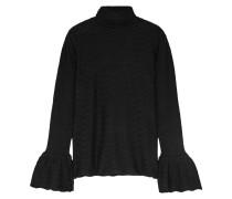 Pullover Aus Pointelle-strick Aus Einer Wollmischung - Schwarz