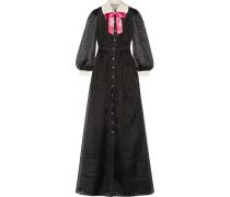 Robe aus Beflocktem Seiden-organza mit Schleife -
