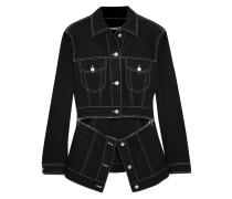 Jeansjacke mit Reißverschlüssen -