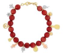 Recharmed Lucky Armband Aus 18 Karat Gelb-, Rosé Und Weiß Mit Achaten