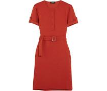 Mila Kleid Aus Stretchcady Mit Gürtel - Ziegelrot
