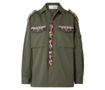 Verzierte Jacke Aus Baumwoll-gabardine -