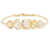 Armband Aus 18 Karat  Mit Opalen Und Diamanten