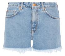 Halsy Abgeschnittene Jeansshorts - Mittelblauer Denim