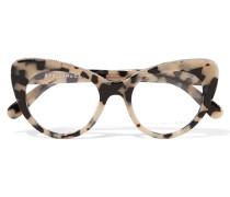 Brille Mit Cat-eye-rahmen Aus Azetat Mit Kettenbesatz -