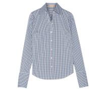 Kariertes Hemd Aus Popeline Aus Einer Baumwollmischung - Blau