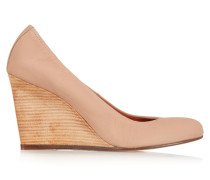 Wedge-pumps Aus Leder - Beige