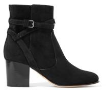 65 Ankle Boots Aus Veloursleder -