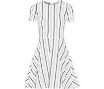 Clos Gestreiftes Minikleid Aus Strukturiertem Jersey - Weiß