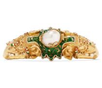 Armband Aus Den 1870er-jahren Aus 18 Karat  Mit Perlen Und Emaille