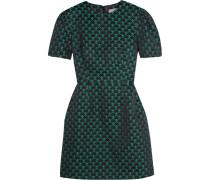 Azurite Minikleid Aus Jacquard - Smaragdgrün