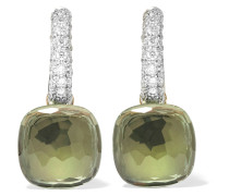 Nudo Ohrringe Aus 18 Karat  Mit Prasiolithen Und Diamanten