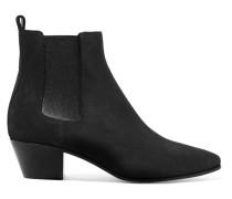 Rock Chelsea Boots Aus Veloursleder -
