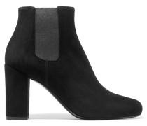 Babies Ankle Boots Aus Veloursleder - Schwarz