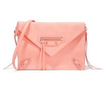 Papier Triple Xs Zip Around Schultertasche Aus Strukturiertem Leder - Pink