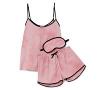New View Pyjama Aus Bedrucktem Satin -