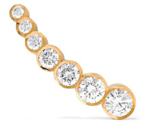 Petite Croissant De Lune Ohrring Aus 18 Karat  Mit Diamanten