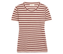 T-shirt Aus Gestreiftem Jersey Mit Metallic-effekt -