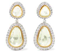 Ohrringe Aus 18 Karat Gelb Und Weiß Mit Diamanten