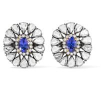 Ohrringe aus 18 Karat Gold mit Diamanten und Tansaniten -
