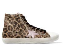 Francy High-top-sneakers Aus Kalbshaar Mit Leopardenprint Und Leder -