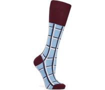 Karierte Socken Aus Einer Baumwollmischung - Himmelblau - EU35, - Karierte Socken Aus Einer Baumwollmischung - Himmelblau - EU39