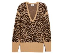 Exhall Pullover Aus Jacquard-strick Mit Leoparden-intarsienmotiv - Leoparden-Print