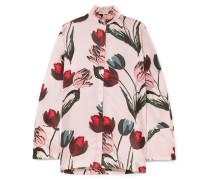 Dellar Bluse Aus Seidensatin Mit Floralem Print -