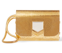 Lockett Gehämmerte Goldfarbene Clutch