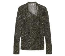 Rosalind Bluse Aus Seiden-georgette Mit Leopardenprint - Tannengrün
