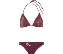 Bestickter Triangel-bikini -