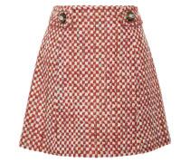 Minirock Aus Tweed Aus Einer Woll-baumwollmischung -