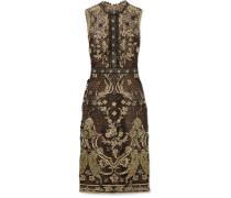 Kleid Aus Guipure-spitze Mit Metallic-effekt -