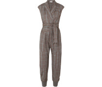 Jumpsuit aus Wolle mit Glencheck-muster
