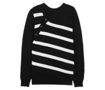 Gestreifter Pullover Aus Einer Kaschmir-baumwollmischung - Schwarz