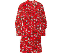 Mirela Floral Bedrucktes Seidenkleid -