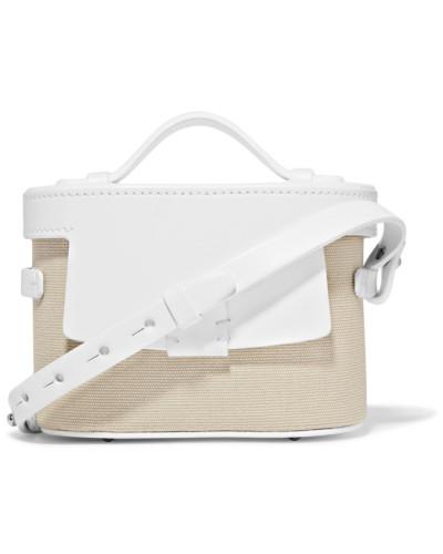 Nico Giani Damen Frerea Mini Schultertasche aus Leder und Baumwoll-canvas Online-Shopping-Original Online Zum Verkauf Bester Verkauf Günstig Online Y6FKTW2