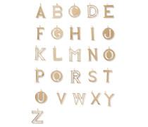 Alphabet Vergoldeter Taschenanhänger