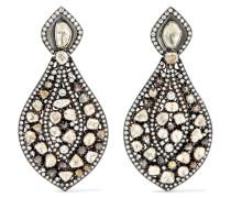 Ohrringe aus 9 Karat  und Sterlingsilber mit Diamanten