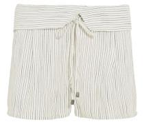 Marina Gewebte Shorts Mit Streifen - Wollweiß