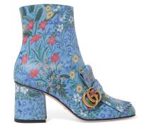 Marmont Ankle Boots Aus Leder Mit Floralem Print Und Fransen -