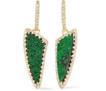Ohrringe Aus 18 Karat  Mit Diamanten Und Granaten