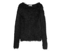 Pullover Aus Faux Fur - Schwarz