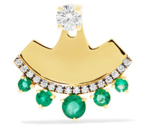 Ohrring Aus 18 Karat  Mit Diamanten Und Smaragd