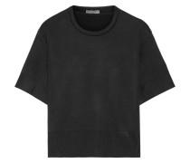 Pullover Aus Einer Woll-seidenmischung Mit Stretch-anteil -