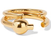 Set Aus Zwei Vergoldeten Ringen