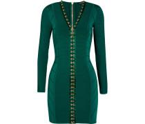 Minikleid In Rippstrick Mit Stretch-anteil - Smaragdgrün