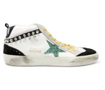 Mid Star Verzierte Sneakers Aus Veloursleder Und Leder In Distressed-optik -